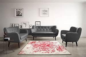 ensemble canap fixe 32 places gris fonc en tissu style With tapis de marche avec canapé 2 places style scandinave