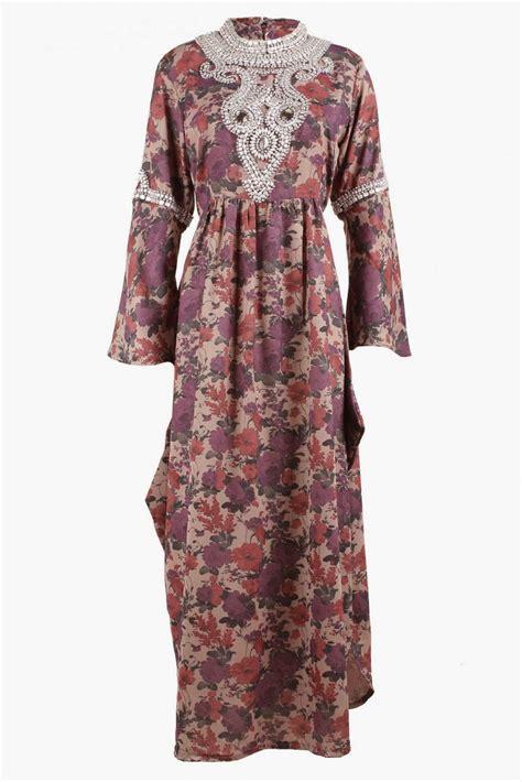 model baju gamis terbaru batik pesta bahan brokat sifon   gemuk pendek murah model