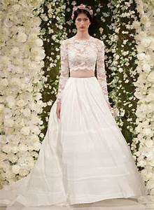 celebrity style fashion news fashion trends and beauty With crop top wedding dress