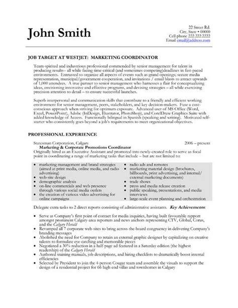 Marketing Coordinator Resume Summary by Pin By Johzanne Miller On Resume Marketing Resume