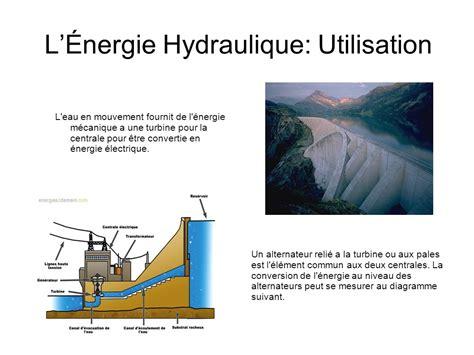 l énergie à la cuisine l énergie hydraulique ppt télécharger