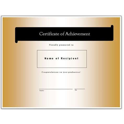 Ms Publisher Certificate Templates by Congratulatory Graduation Certificates Free Downloads For