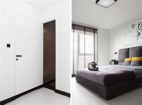Minimalist Apartment : Masculine Black And White Apartment Spiced Up With