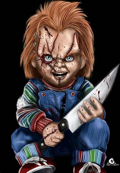 Chucky Play Child Horror Childs Characters Painting