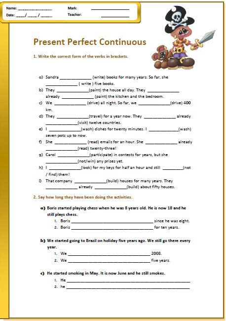 26 free past continuous worksheets