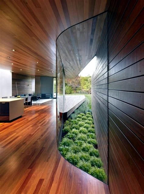 contemporary wall cladding wood creates  warm interior