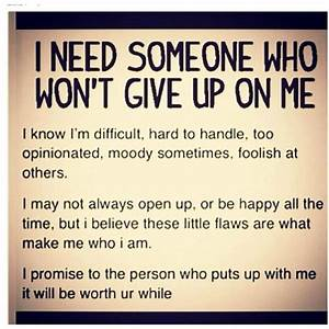 I Wont Give Up On You Quotes. QuotesGram