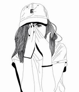 Fille Noir Et Blanc : noir et blanc bonnet dessin suivre fille tumblr ~ Melissatoandfro.com Idées de Décoration