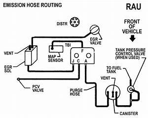 1990 Toyota 4 Rummerv-6 Vacuum Hose Diagram California