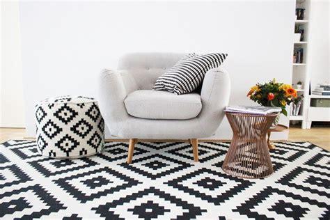 tapis noir  blanc scandinave bricolage maison