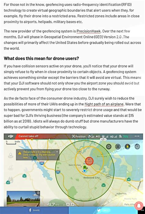 dji upgrades geofencing systems reducing risk  drones  plane collisions wetalkuavcom