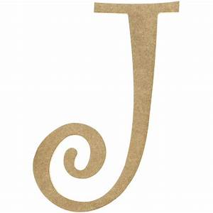 14quot decorative wooden curly letter j ab2154 With curly wooden letters