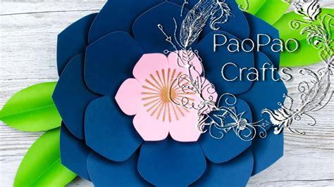 Flor de Loto gigante Moldes GRATIS Flores de papel