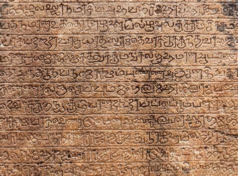 ancient stone inscriptions  singalese language texture