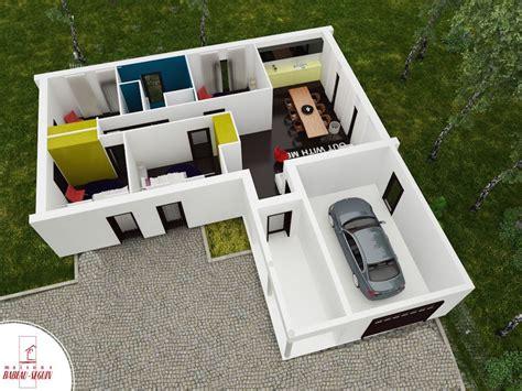 plan de maison plain pied gratuit 3 chambres plan maison 3d sur terrain