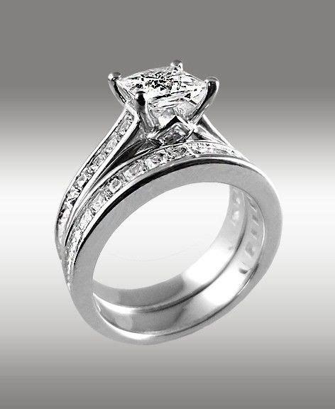 white gold princess cut wedding rings 3 72ct princess cut engagement ring matching wedding 1333