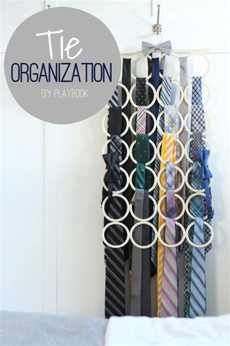 1000 ideas about organize ties on tie rack