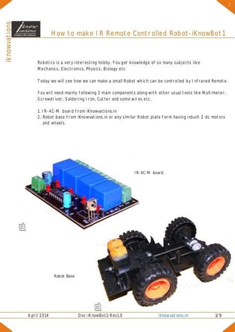 How Make Remote Controlled Robot