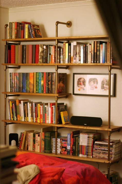 vintage metal  wooden industrial bookcase designs