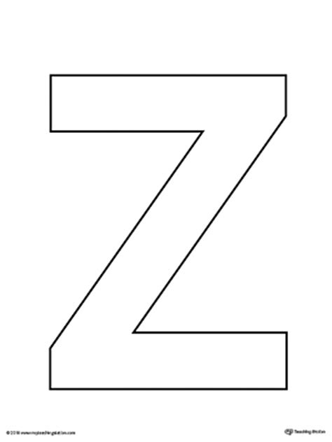 uppercase letter  template printable myteachingstationcom