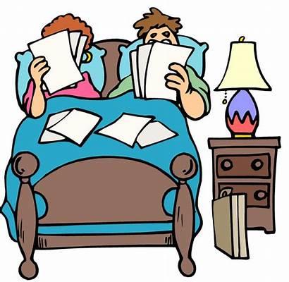 Sleeping Cartoon Bed Clipart Bedroom Clip Cliparts