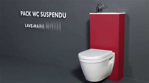 pack wc suspendu avec lave mains int 233 gr 233