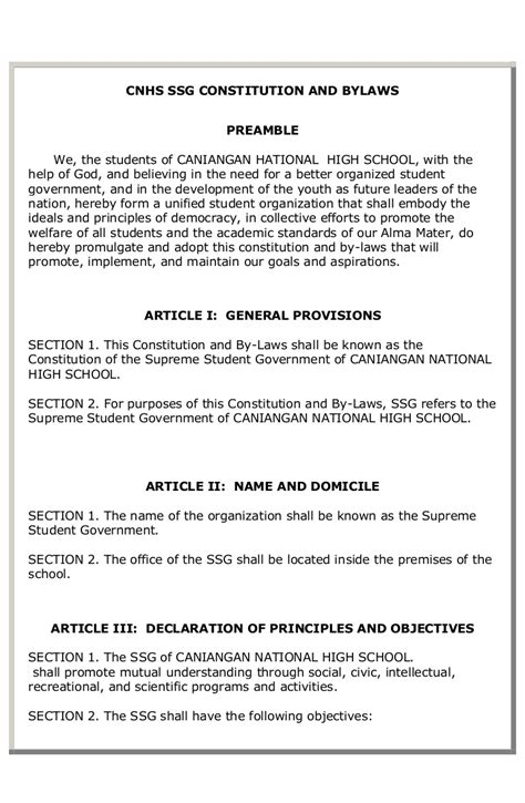 cnhs ssg constitution  bylaws