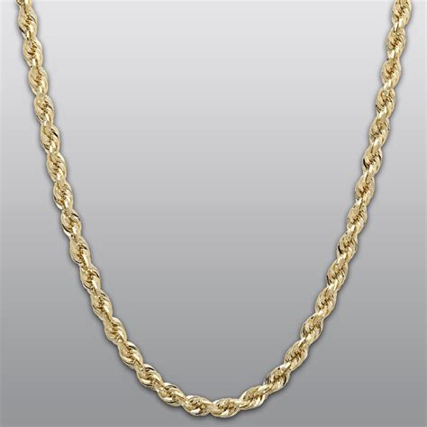 Yellow Gold 10K Rope Chain Necklace