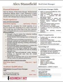 it manager resume 2017 real estate manager resume 2017 exles