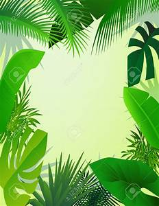 Forest clipart jungle backdrop - Pencil and in color ...