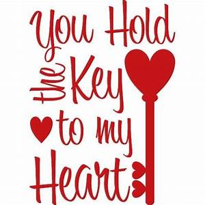 Key To My Heart : you hold the key to my heart wall decal quote words lettering decor sticker ebay ~ Buech-reservation.com Haus und Dekorationen