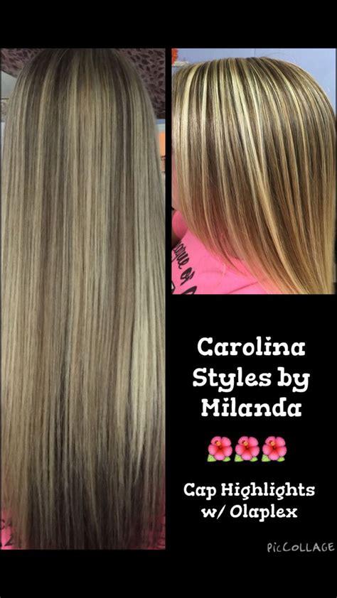 cap highlights  olaplex cap highlights hair colour