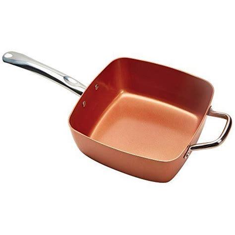 copper chef pan copper chef   square nonstick pan