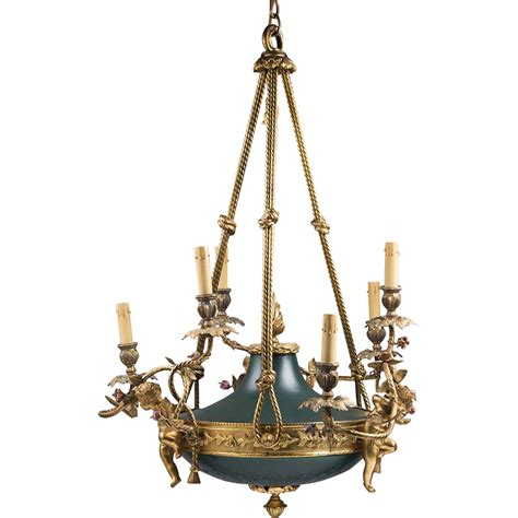 The Chandelier Shop by Empire Style Bronze Patinated Chandelier Pia S