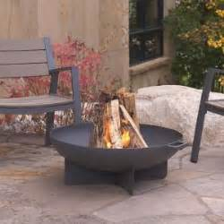 real flame anson   wood burning steel fire bowl