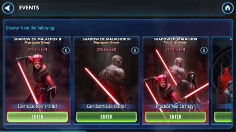 swgoh darth sion  visas marr marquee event youtube