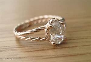 diamond twisted rope engagement ring oval diamond engagement With rope wedding ring