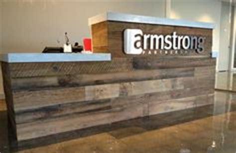 rustic industrial reception desk   tiers frazer