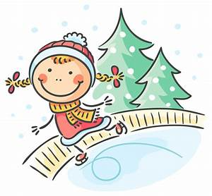 Happy winter children cartoon vector 01 - Vector Cartoon ...