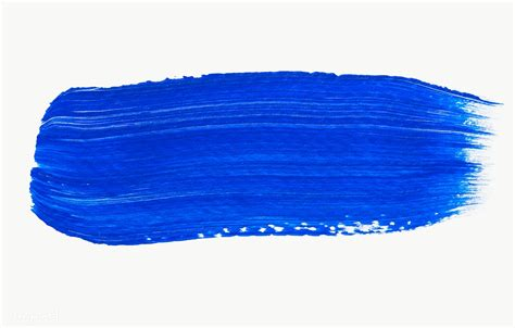 Blau Streichen by Blue Paint Brush Stroke Free Transparent Png 583870