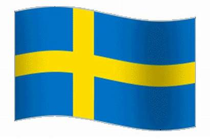Flag Sweden Animated Animation Swedish Waving Flying