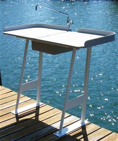aluminum fish cleaning table king starboard fish cleaning station 54 quot x 23 quot top