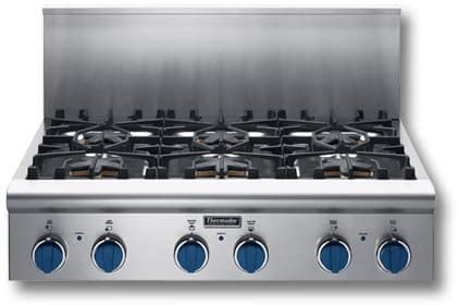 thermador gas cooktop thermador pc366bs 36 inch gas cooktop with burners 2