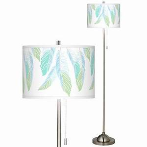 light as a feather brushed nickel pull chain floor lamp With floor lamp with feather shade