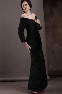 robe noire a manche longue fourreau epaule denudee fendue With robe epaule dénudée manche longue