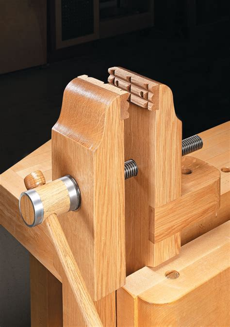 bench vise woodworking project woodsmith plans