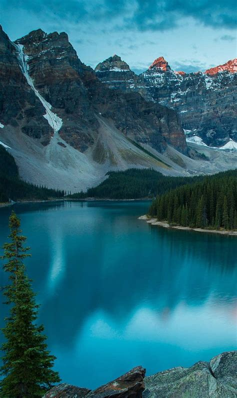 Blue Nature Wallpaper For Mobile by Wonderful Nature The Blue Lake Nature Hd Wallpaper