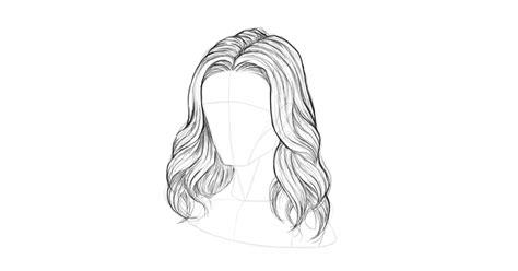 draw hair step  step themekeepercom