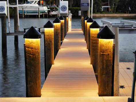 led dock lighting for boat docks and pilings synergy