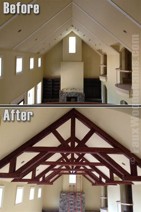 White Ceiling Beams Decorative - 16 best before and after images on faux wood